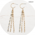 CE-2007 Multi Chains & Rhinestone Chain Earring, GOW.GY